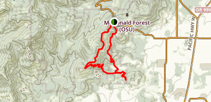 Horse and Dans Trail Loop Map