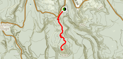 Crater Peak Trail Map