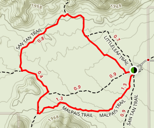 Goldmine Trail to San Tan to Moonlight Trail Loop Map