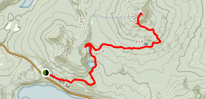 Maiden Peak Trail Map
