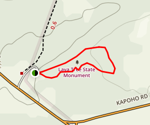 Lava Tree Trail Map