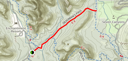 Deadman's Pass Trail Map