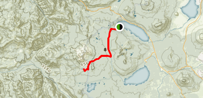 Odell Lake To Marie Lake Trail Map