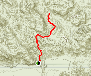 Bluff Spring Trail to Dutchman Trail to Charlebois Canyon Map