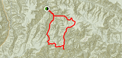 Oregon Butte Grand Loop Trail Map