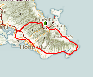 The Windward Coast Scenic Drive Map
