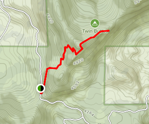 Twin Buttes Trail Map