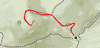 Onion Mountain Lookout Point Map