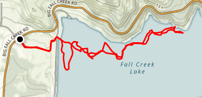 Fall Creek: Fall Creek Dam to Jasper County Park Map