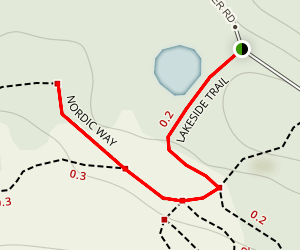 Teacup Lake Lakeside Trail and Nordic Way  Map