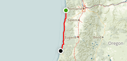 Central Oregon Coast Map