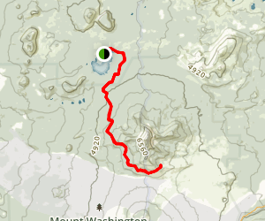 Mckenzie Lava Flow And George Lake Trail Map