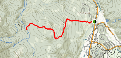 Gold Hill to Peaks Trail Map