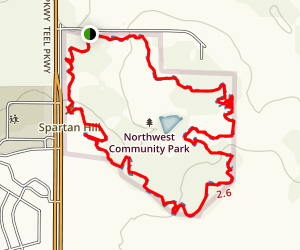 Frisco NW Community Park Trail Map