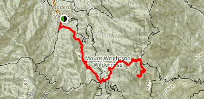 Mt. Wrightson via Old Baldy Trail Map