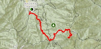 Mount Wrightson via Old Baldy Trail Map