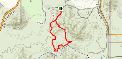 Quail and Baseline trail Loop Map