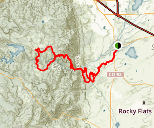 Coal Seam Trail to Walker Ranch Map