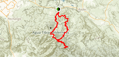 Eagle Crag via Agua Tibia Loop Map
