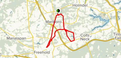 Colts Neck Bike Ride Map