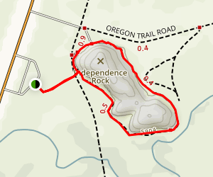 Independence Rock Trail Map