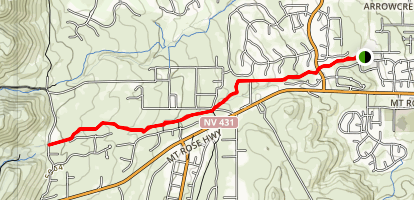 Lower Whites Creek Trail Map