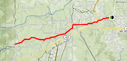 Lower Whites Creek Trail [CLOSED] Map