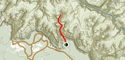 South Kaibab Trail to Skeleton Point Map