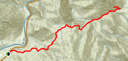 Packsaddle Cave Trail Map