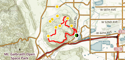 North Table Mountain and Rim Rock Loop Map