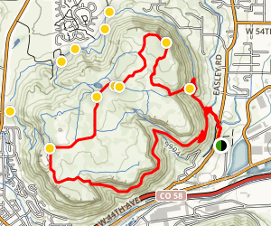 North Table Mountain Loop Map