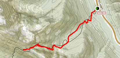 Easy Pass Trail Map