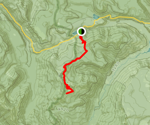 Shoe Lake Via Pacific Crest Trail Map