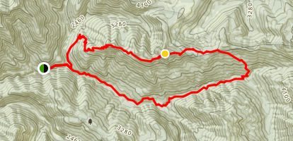 Whetstone Peak to Opal Creek Loop Map