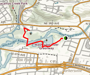 Washougal River Greenway Trail Map