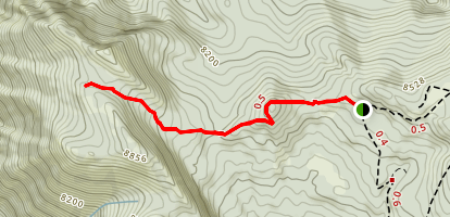 Mahogany Mountain North Peak Trail Map