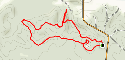 Lost Bluff Trail at Grenada Lake Map