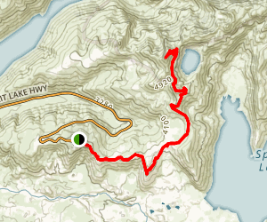 Boundary Trail to Coldwater Peak Map