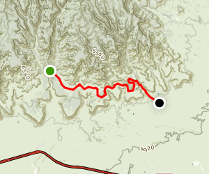 Sagers Canyon Trail Map