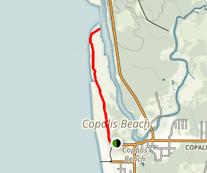 Copalis River Spit Trail Map
