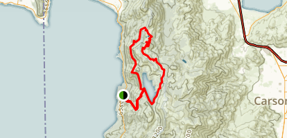 Marlette Lake and Twin Lakes Loop Trail Map