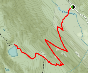 Squaw Lake Via Cathedral Pass Trail Map