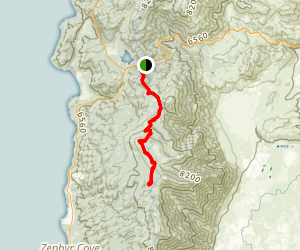 Tahoe Rim Trail (TRT): Spooner Summit to South Camp Peak Map