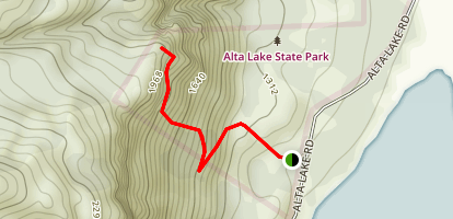 Alta Lake Trail Map