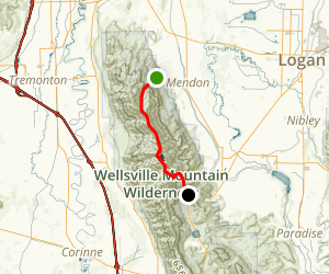 Wellsville Mountains Map