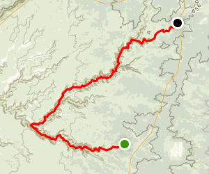 Bullet Canyon Trail to Grand Gulch and Kane Gulch Map