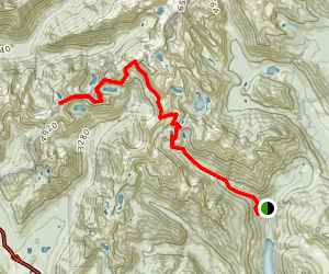 Alaska Mountain and Central Alpine Lakes Trail Map