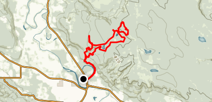 Middle Trail and Beaver Ponds Trail Loop  Map