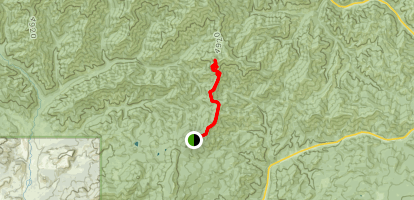 Teanaway Ridge Trail (#1364) Map
