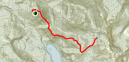 Three Peaks Trail to Lost Lake Map